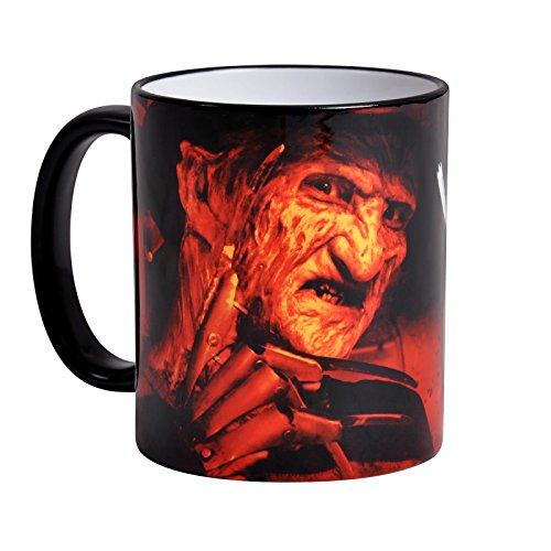 Griffes de la nuit Freddy Krueger Cup Bienvenue 320ml de Elbenwald céramique rouge