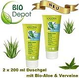 Mihatsch-Diewald 2 x LOGONA daily care Duschgel Bio-Aloe + Verveine. Mild reinigend