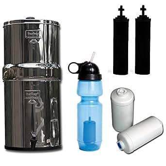 Travel Berkey Water Filter System With Two Black Berkey