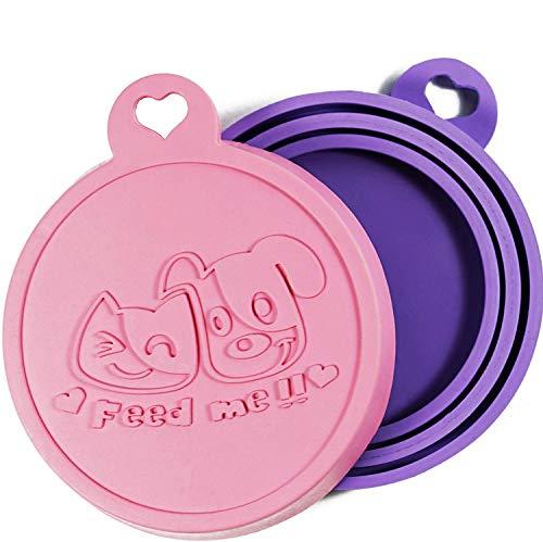 Rollmops 2er-Set Dosendeckel für Tierfutter   Lebensmittelechtes Silikon   3in1 Passform   - Katzenfutter Für Dosen Deckel
