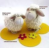 1 Deko-Keramik-Schaf mit Wolle sortiert ca. 15 cm