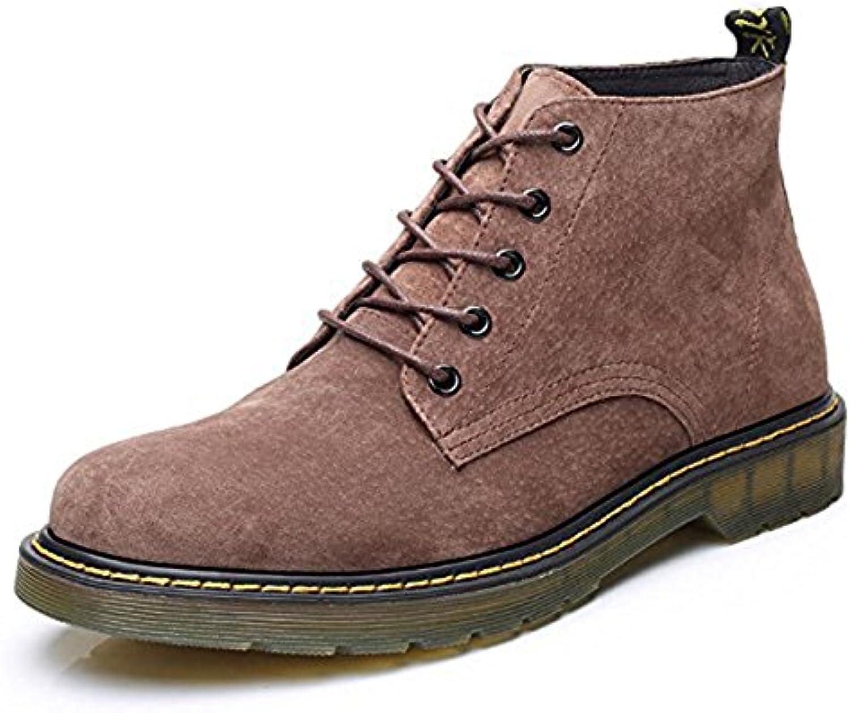Koyi Männer Martin Stiefel Jugendmode Stiefel Rutschfeste Verschleißfestigkeit Sehnenboden Einfache Schnürschuhe