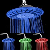 Duschkopf Regendusche LED Runde Home Verlängerung Brause Badezimmer Schwebender Wasserfilter Verchromt 3 Farben