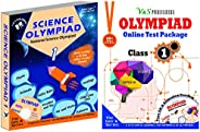 Olympiad Class 1 Online Practice Tests + Science Book For NSO (Set Of 2 Books)
