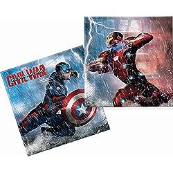 Capitán América Guerra Civil servilletas de papel, 20unidades