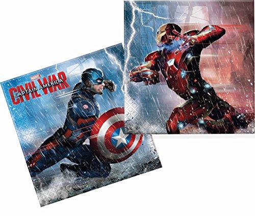 captain-america-guerre-civile-lot-de-20-serviettes-en-papier