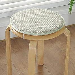 QIANBAOBAO Tabouret Coussin Rond Anti-Slip Impression Rembourré en Plein Air Chaise de Chaise Rotin Tapis D'éponge Décor…