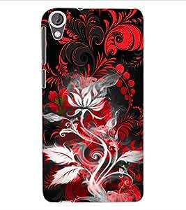 ColourCraft Floral Design Back Case Cover for HTC DESIRE 820