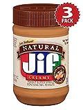 Jif Erdnusbutter - Natural Creamy - 3er Pack (3x454g)
