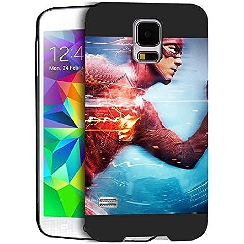 Superheroes Case Cover Samsung S5 I9600 Superheroes - [ DC Comics ] Galaxy S5 I9600 Cabina telefonica CustodiaCase Durevole For Ragazzi Superheroes Samsung Galaxy S5 I9600 Back Cover