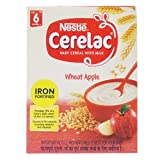 #4: Nestlé Cerelac Fortified Baby Cereal with Milk – 6 Months+, Stage 1, Wheat Apple, 300g