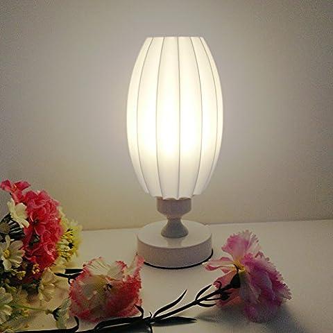 Kreatives Einfaches Harz Bedside Licht Eisen Schreibtisch Licht Blume Bud Tischlampe B-E27 Birne, Hoch 28cm (Warmes Gelbes Licht)