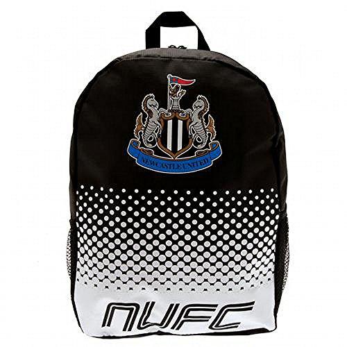 Newcastle United FC Fade Rucksack mit Club Wappen Schwarz/Weiß