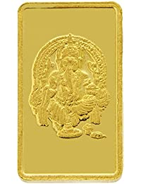 TBZ - The Original 2 gm, 24k(999) Yellow Gold Ganesh Precious Coin