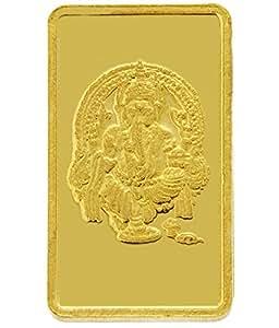 TBZ - The Original 2 gm, 24k(999) Yellow Gold Ganesh Precious Coin