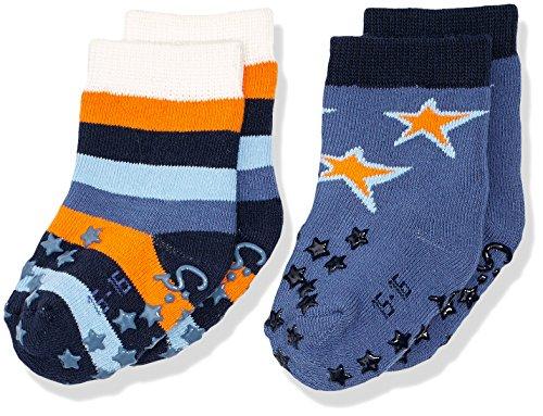 Sterntaler Baby-Jungen Socken Abs-Krabbelsöckchen DP Sterne, Blau (Marine 300), 16