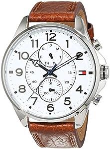 Tommy Hilfiger Hombre Reloj de pulsera Casual Sport analógico de cuarzo piel 1791274