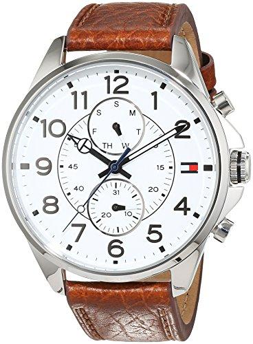 Tommy Hilfiger Herren Analog Quarz Uhr mit Leder Armband 1791274 (Hilfiger Männer Reloj Tommy)