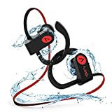 Bluetooth Kopfh�rer In Ear, Voberry IPX7 Wasserdicht Kopfh�rer Sport, In Ohr Kopfh�rer Kabellos Noise Cancellation Ohrh�rer mit Mikrofon Drahtloser Rich Bass f�r iPhone Android medium image