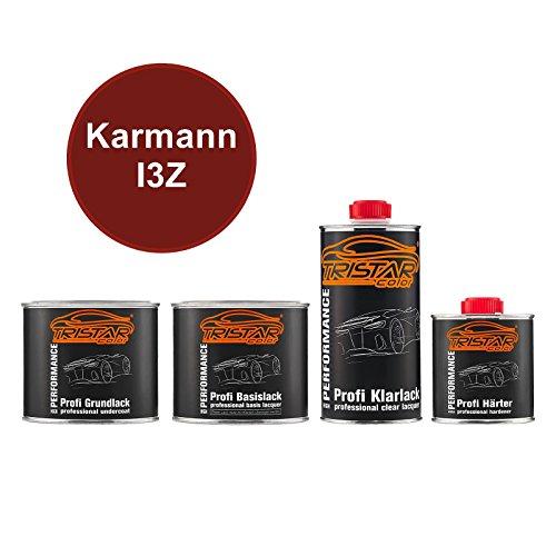 Preisvergleich Produktbild TRISTARcolor Autolack Set Dose spritzfertig Karmann I3Z Vermelho Merlot Perol. / Merlot Rot Perl Grundlack + Basislack + 2K Klarlack 1, 75L