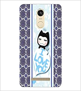 PrintDhaba Kitty D-2783 Back Case Cover for XIAOMI REDMI NOTE 3 (Multi-Coloured)