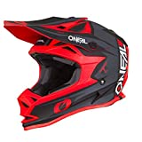 O'Neal 7Series Strain Motocross Helm MX Offroad Enduro Quad Cross Trail Motorrad, 0583, Farbe Rot, Größe M