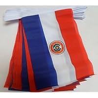 AZ FLAG Guirnalda 6 Metros 20 Banderas de Paraguay 21x15cm - Bandera PARAGUAYA 15 x 21