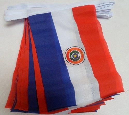 9m 30Flagge Paraguay paraguayischer Material Wimpelkette