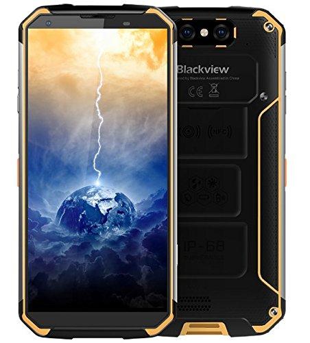 """Blackview BV9500 - Bateria 10000 mAh IP68 / IP69K prova d'água / à prova de choque / Poeira Android Smartphone 8.1, FHD tela + de 5,7 """"(18: 9), Octa Núcleo 2,5 4 GHz GB + 64 GB, carga rápida 12V / 2A (mídia sem fio suportado ), Câmera traseira 16 MP, GPS / NFC / Fingerprint - Amarelo"""