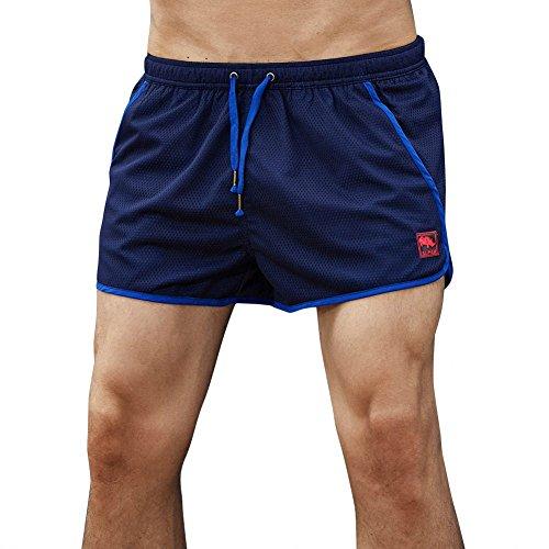 NEEKY Herren Shorts Quick Dry Casual Herren Shorts Badehose Strand Surfen Laufen Schwimmen WasserShorts Herren Hosen Cargo Pack(2XL,Blau)