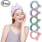 5 Pcs: HBY Women Fashion Lovely Soft Bowknot Bow Makeup Cosmetic Shower Elastic Hair Band Hairlace Headband