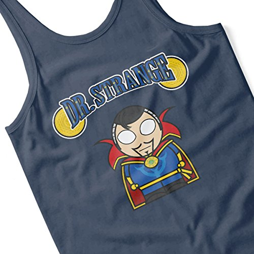 Doctor Strange Cartoon Figure Men's Vest Navy Blue