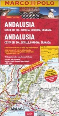 Andalusia, Costa del sole, Siviglia, Cordoba, Granada 1:200.000. Ediz. multilingue