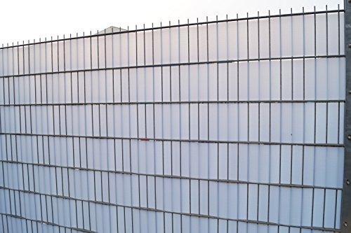 Bauprodukte Sichtschutz Profil transparent transluzent Keller Zaun Breite 190 mm VP 25 Meter