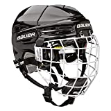 BAUER RE-AKT 100 Helm Combo Bambini, Farbe:schwarz