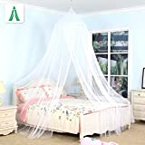 Kiddale Baby Canopy Mosquito NET for Double Bed Including Full Hanging Kit, Ideal for Indoors or Outdoors for Covering Beds, Cribs, Hammocks (White, Twin/Full)
