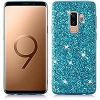 Nadoli Glitzer Hülle für Galaxy S9,Blau Weich Bling Slim Fit Tasche Handyhülle Skin Bumper für Samsung Galaxy... preisvergleich bei billige-tabletten.eu