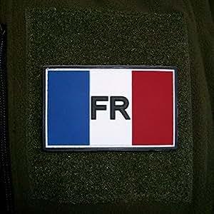 3 D rubber patch république française-france france drapeau armée militaire armée de terre écussons blason fR 8 x 5 cm#16259