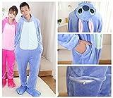 Yimidear® Hot Unisex Adult Pyjamas Cosplay Tier Onesie Nachtwäsche Nachtwäsche (L, Blue Stitch) - 4