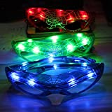 LED Kostüm Brillen, Spiderman Leuchtender Sonnenbrille Spider Web Multi Colored Glühende Lichter Gläser Best Partyzubehör, grün, Free Size