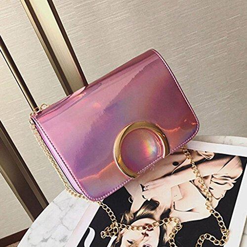 Y&F Frau Schultertaschen Schräges Kreuzpaket Farbe 21 * 15 * 6 cm Pink