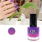 Esmalte de uñas de gel, lujoso, 1 esmalte de uñas de gel para cosméticos, manicura para uso doméstico, esmalte de uñas térmico, no tóxico, cambio de color, 12 ml