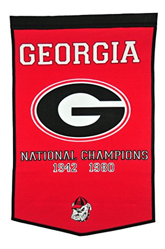 Winning Streak NCAA Georgia Bulldogs Dynasty Banner
