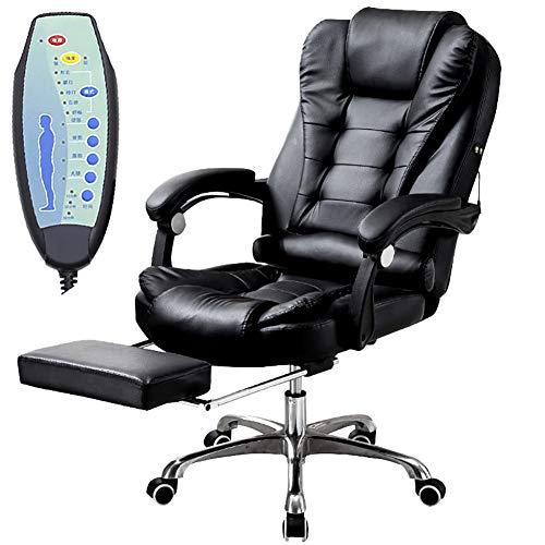 ZDYLM-Y Massage-Bürostuhl, 7 Punktmassage und 150 ° Rotation Eigenschaften, PU-Leder, für Damen und Herren