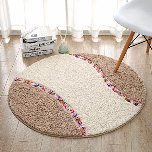 Teppich Runde computer stuhlmatten drehstuhl korb kissen wohnzimmer schlafzimmer wildleder rutschfeste runde teppich Bettmatten ( größe : 90×90cm )