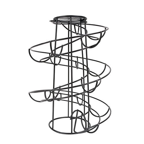 Corneria espiral de metal negro independiente Egg Skelter - Soporte dispensador de rack
