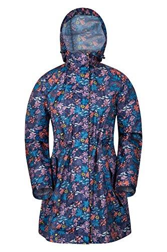 Mountain Warehouse Rain Printed Womens Jacket Bleu Marine