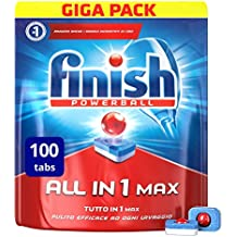 Finish All in 1 Max Pastiglie Lavastoviglie, Regular, 100 Tabs