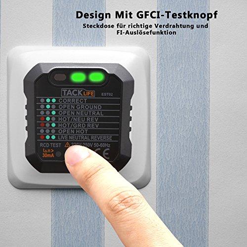 ᐅ Tacklife -EST02 Advanced Steckdosen Tester Automatischer ...