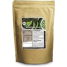 Nurafit BIO Erbsenprotein | pflanzliches Eiweiß 80% | alle essentiellen Aminosäuren | zertifizierte Spitzenqualität nach DE-001-ÖKÖ | 500g / 0,5kg